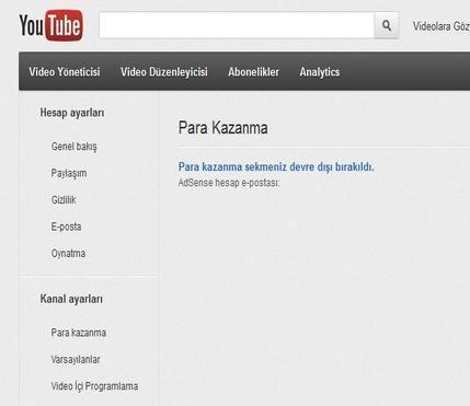 youtube adsense ban